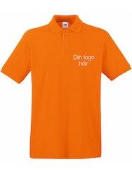 Herr Piké Orange med valfri tryck på bröstet