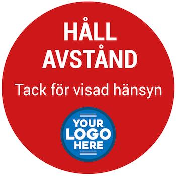 Skräddarsydd Golvdekal / Dekal med er logga logotyp