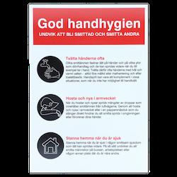 Skylt - God Handhygien  A4 PLAST