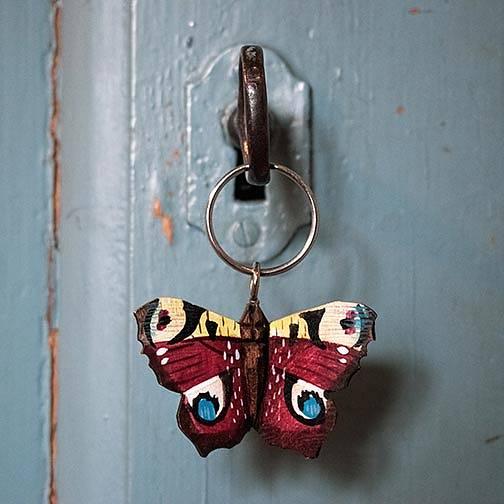 Nyckelring Fjäril