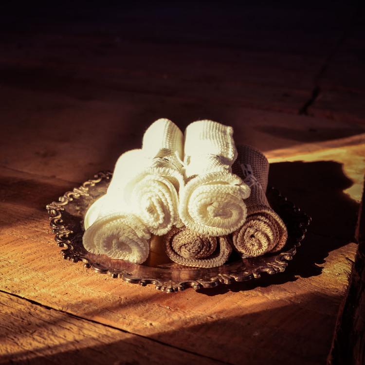 Tvättlapp i ekologisk stickad bomull