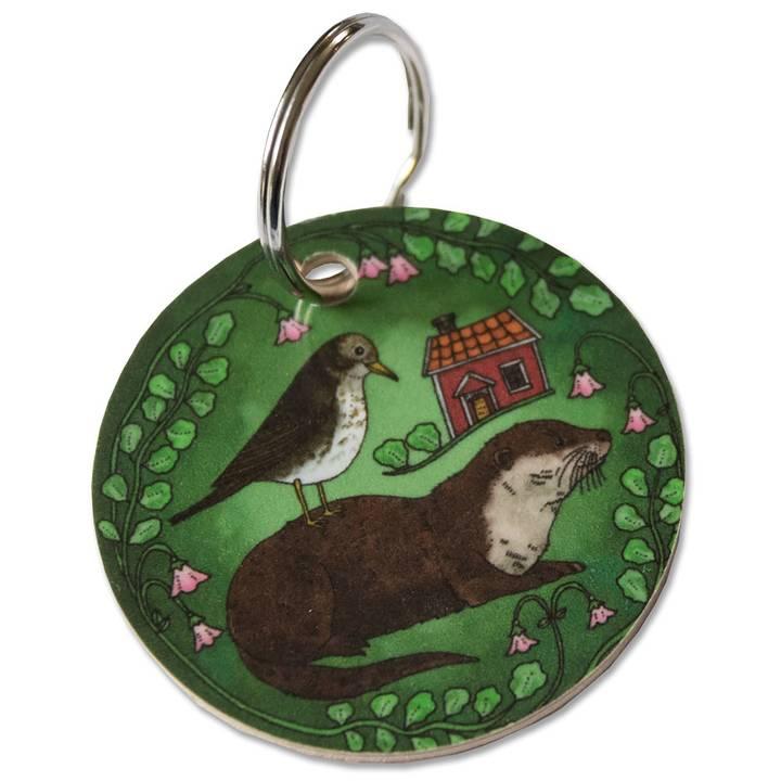 Nyckelring i björk - Småland