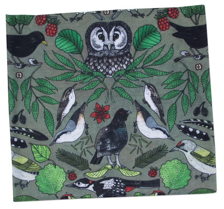 Tub & multiscarf Skogsfåglar
