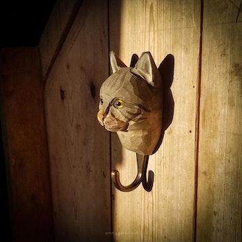Handsnidad krok - Katt