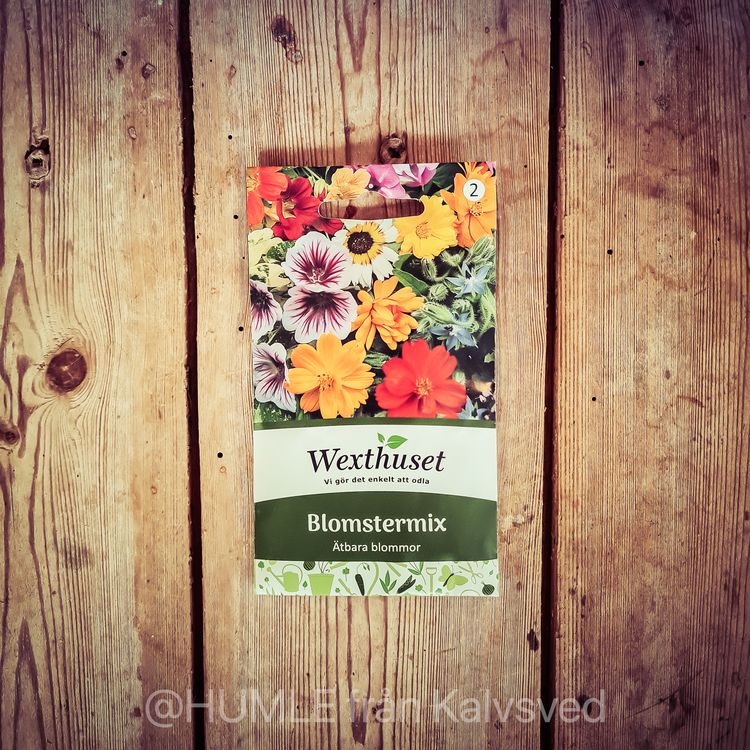 Blomstermix ätbara blommor