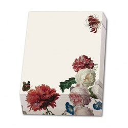 Noteringsblock blommor