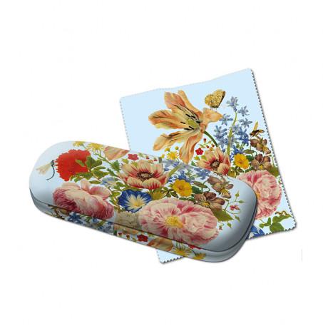 Glasögonfodral blommor Merian