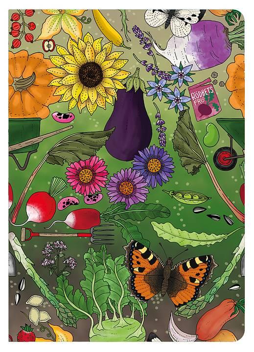 Anteckningsbok A6  Trädgård
