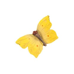 Handsnidad fjäril med magnet  -Citron