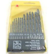 Borrsats HSS. 13 storlekar. 1,5mm- 6,5mm.