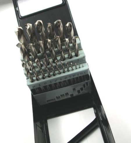 Borrsats. HSS. 1,0 mm-13,0 mm. 25 Storlekar.