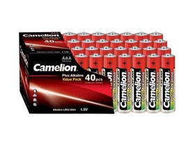 Batterier 40-pack.Camelion Alkaline LR03 Micro AAA.