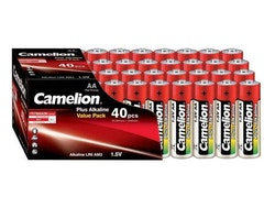 Batterier 40-pack. Camelion Mignon AA 1,5V.