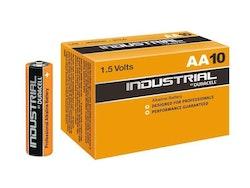 Batteri Duracell INDUSTRIAL, 1,5 volt, LR6 Mignon AA (10 st)