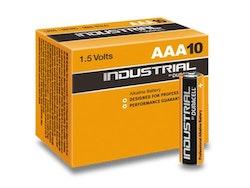 Batteri Duracell INDUSTRIAL, 1,5 volt, LR03 Micro AAA (10 st)