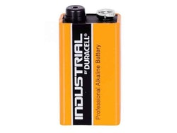 Batteri. 9-volt. Duracell INDUSTRIAL MN1604/9V Block (1 pcs BULK)
