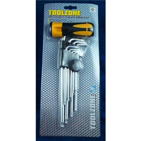 Torx nycklar. 9 storlekar