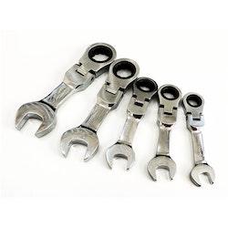 Korta ringspärrnycklar. 5 storlekar: 10-12-13-17-19mm