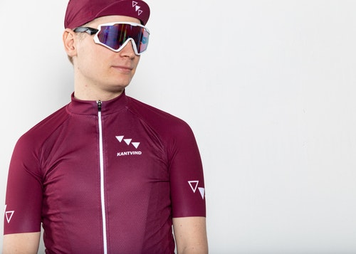 Cykeltröja Kuling | Vinröd | Herr