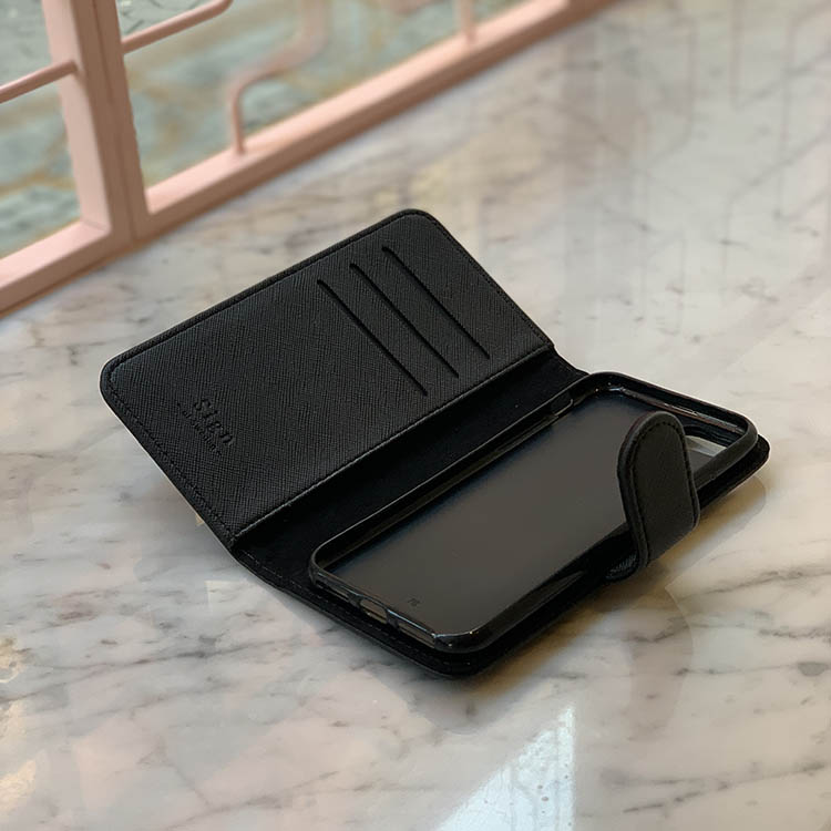 Plånboksfodral - Svart saffiano
