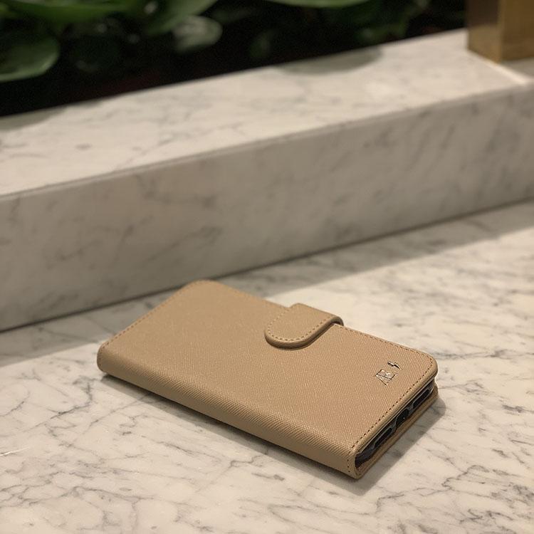 Plånboksfodral - Beige saffiano