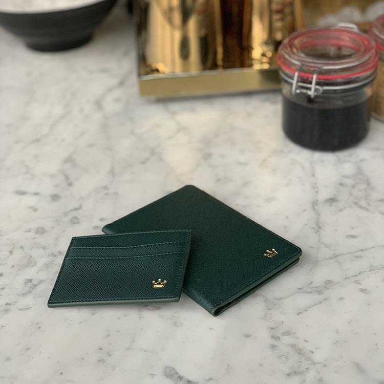 Dark Green saffiano