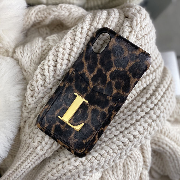 Leopard (metal letter & korthållare)