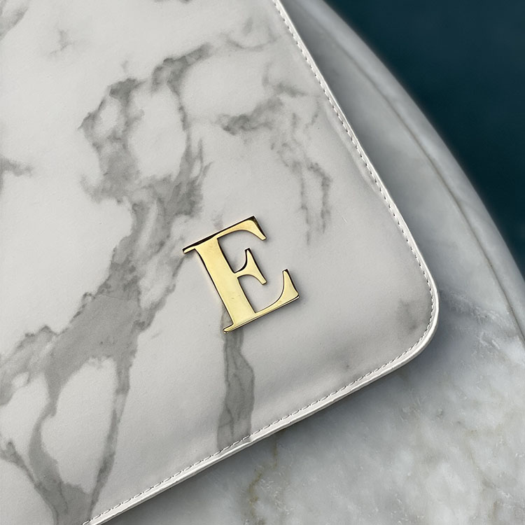 White Marble - Metal letter