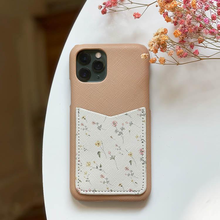 Flowers - Mobilskal med korthållare