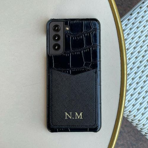 Black croco (Samsung skal med korthållare)