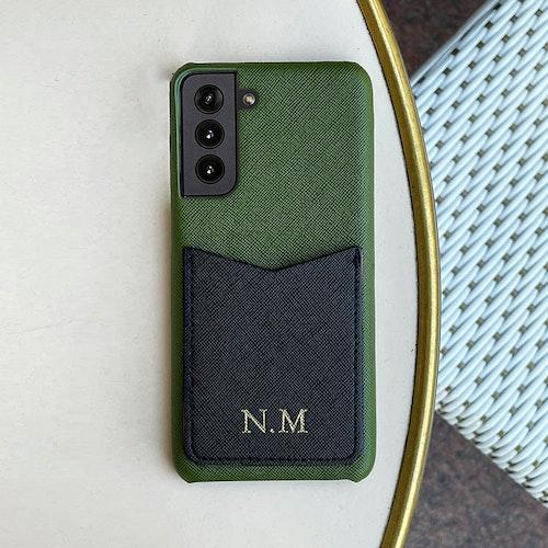 Khaki green (Samsung) skal med korthållare