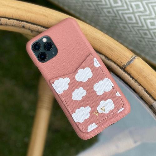 Moln - Cloudy Pink skal med korthållare