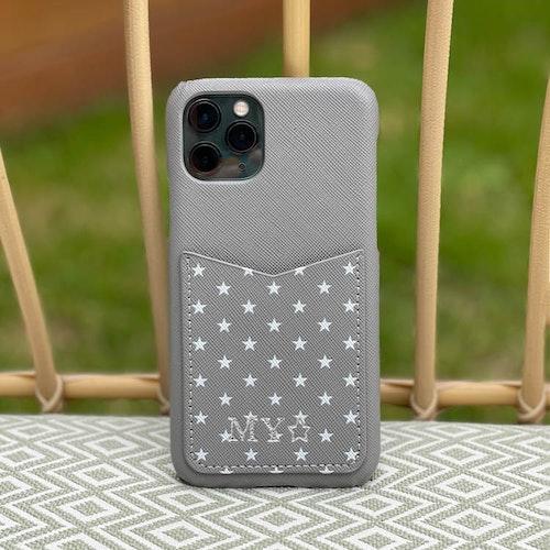 Grey stars - Mobilskal med korthållare