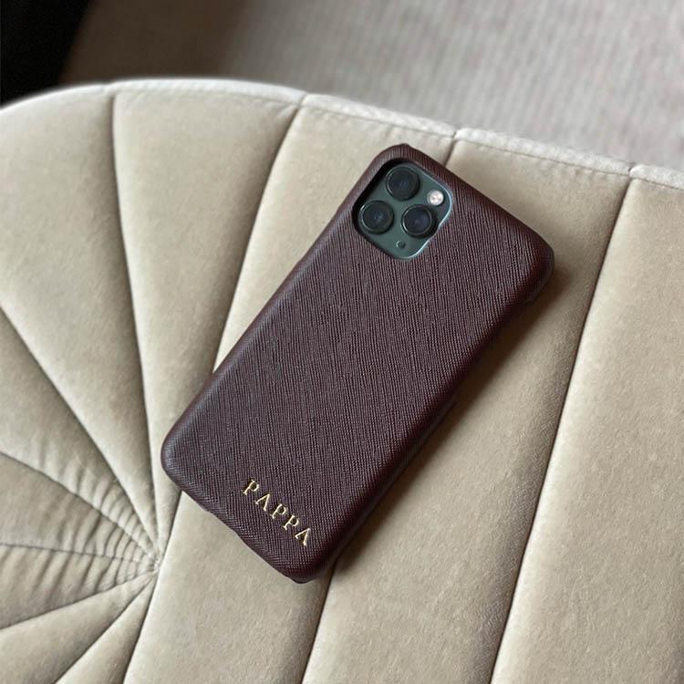 Mörkbrunt mobilskal