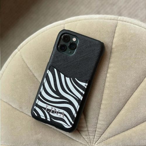 Zebra - Mobilskal med korthållare
