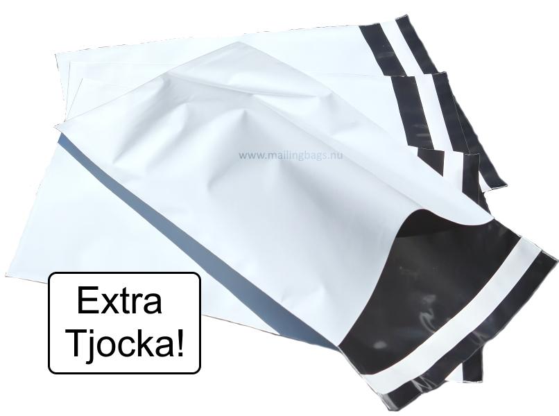 Extra Tjocka påsar! Vita 8 storlekar - Mailingbags.nu