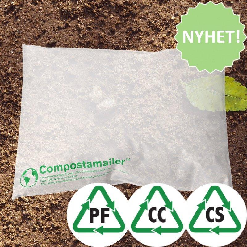 Komposterbara Postorderpåsar 6 storlekar - Mailingbags.nu