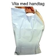 Vita med handtag 7 storlekar! - Mailingbags.nu