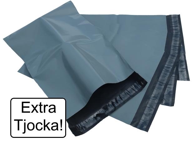 Extra Tjocka påsar! Grå 7 storlekar - Mailingbags.nu