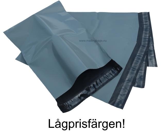 Grå mailingbags 9 storlekar! - Mailingbags.nu