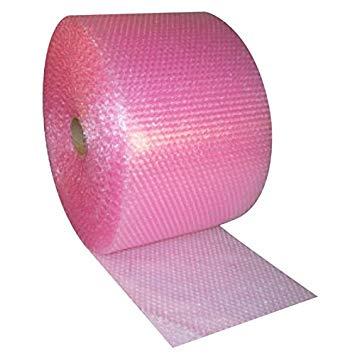 Bubbelplast rosa små bubblor 30cm