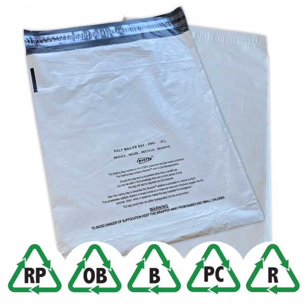 Postorderpåsar grå oxo-biodegradable ECO 3XL 42x65cm