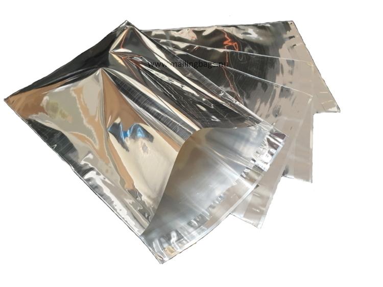 "Postorderpåsar Silvermetallic Medium ""kort"" 23x27cm"