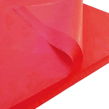 Silkespapper Röd 45x70cm
