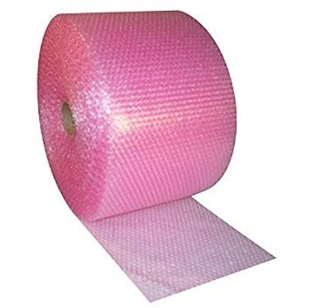 Bubbelplast rosa små bubblor 50cm