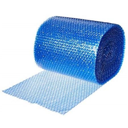 Bubbelplast blå små bubblor 50cm