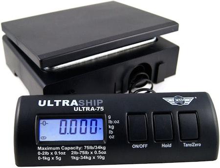 Paketvåg 34Kg med löstagbar LCD front