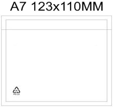 Packsedelsfickor A7 med & utan text.