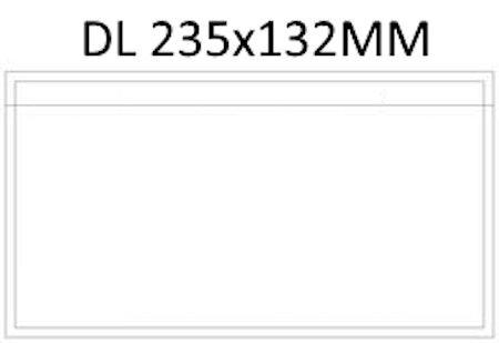 Packsedelsfickor DL utan text till schenker ombud mm.