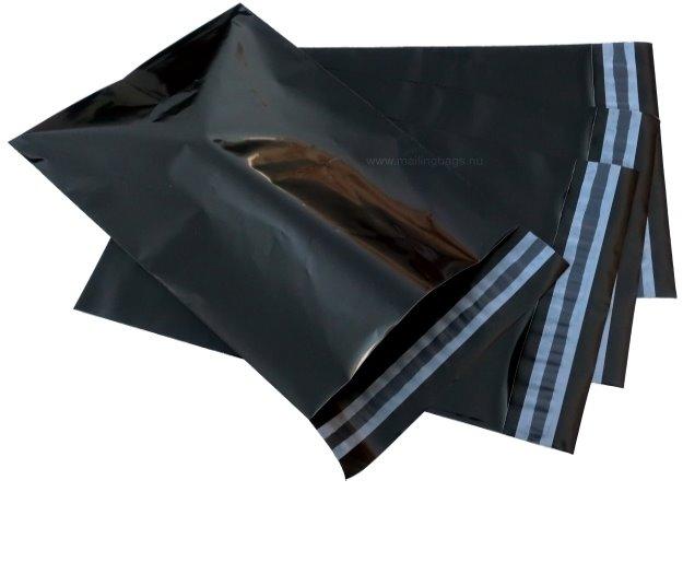 Postorderpåsar Svart XL 30x44cm